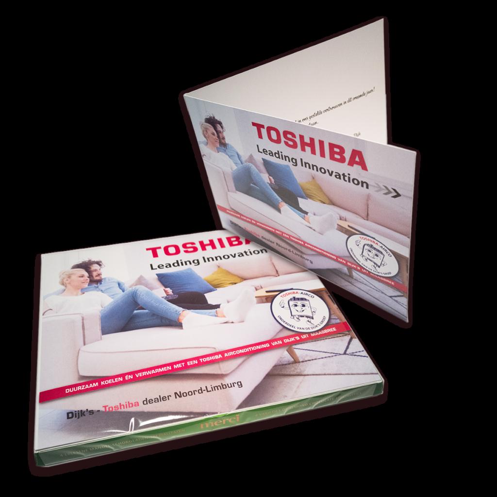 Merci Chocolade met gepersonaliseerde kaart-inlay voor Dijk's Toshiba Airconditioning